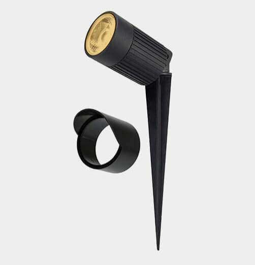 דוקרן גינה Eelay LED-גימור שחור-IP67-אור חם-8W 12V