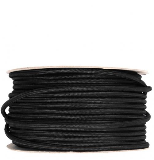 כבלי בד-צבע שחור-גליל 100 מטר