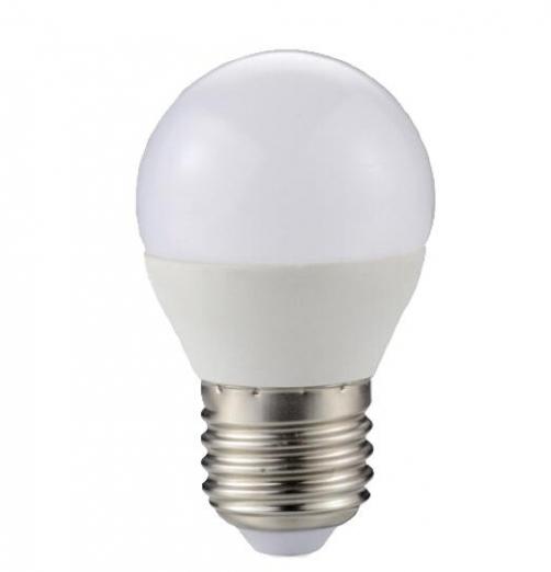נורת LED  כדור חלבי-אור קר 8W 230V E27