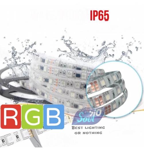 גליל 50 מטר סרט לד מוגן מים 230V/15W/M-120LED/M-צבעים RGB