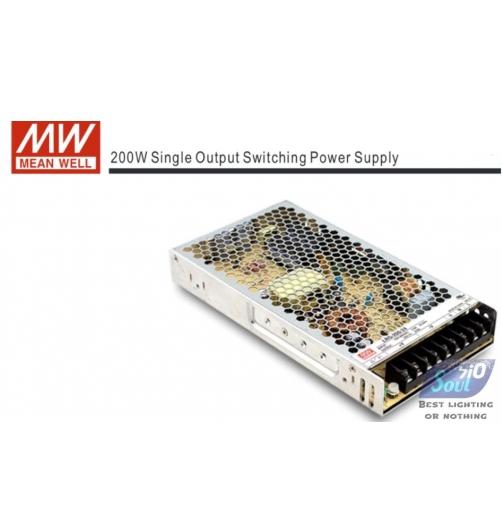 ממיר מתח(שנאי)MEAN WLLL-200W/12V-LRS