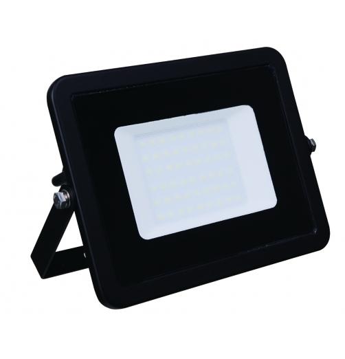 פנס הצפה מקצועי 50W גימור שחור-אור חם-RONI LED PRO