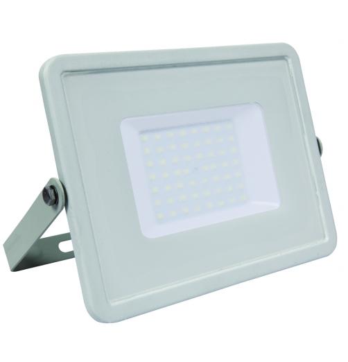 פנס הצפה מקצועי 50W גימור לבן-אור לבן-RONI LED PRO